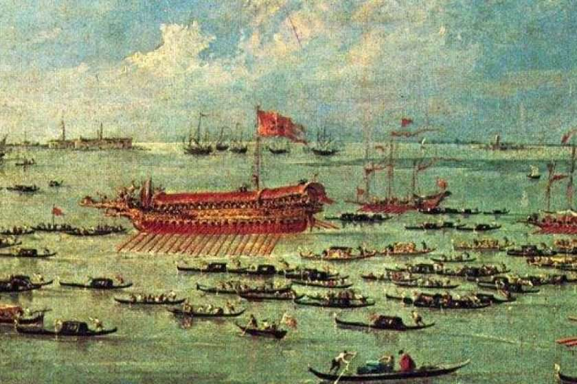 The Bucintoro of Venice the Doge's boat