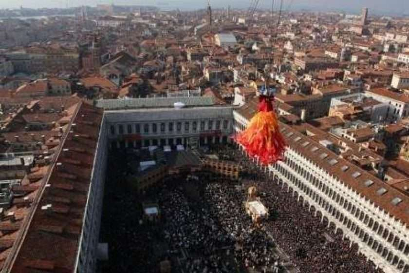 Venice carnival – The flight of the Angel